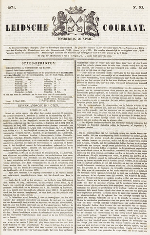 Leydse Courant 1871-04-20