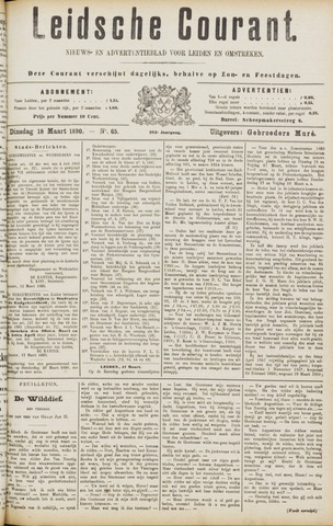 Leydse Courant 1890-03-18
