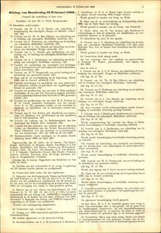Handelingen van de Raad 1899-02-16