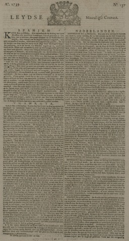 Leydse Courant 1739-11-16