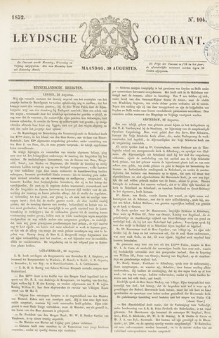 Leydse Courant 1852-08-30