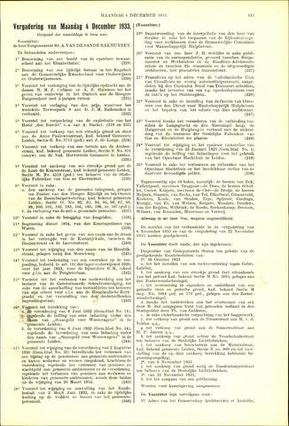 Handelingen van de Raad 1933-12-04