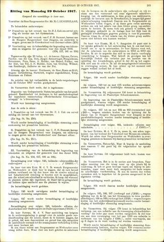 Handelingen van de Raad 1917-10-29