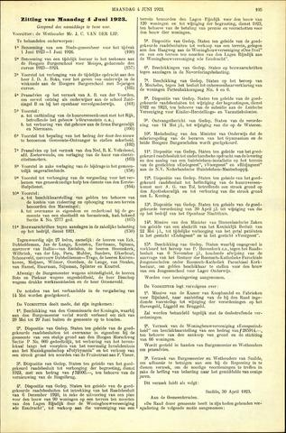 Handelingen van de Raad 1923-06-04