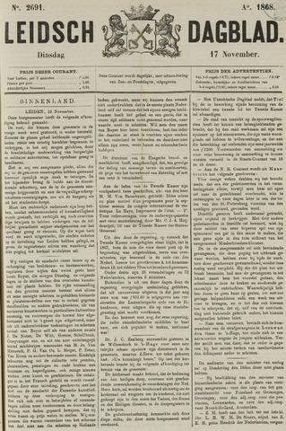 Leidsch Dagblad 1868-11-17
