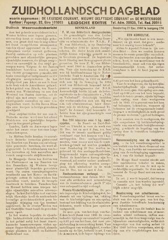 Zuidhollandsch Dagblad 1944-12-21