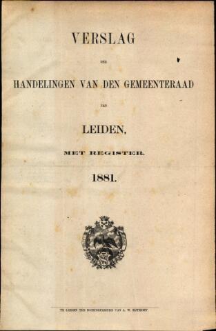 Handelingen van de Raad 1881-01-01
