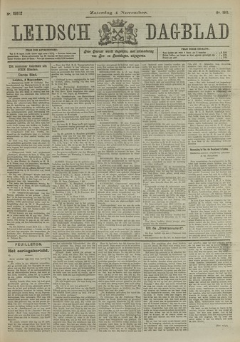 Leidsch Dagblad 1911-11-04