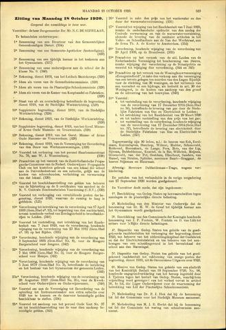 Handelingen van de Raad 1920-10-18