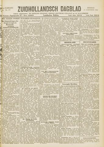 Zuidhollandsch Dagblad 1944-08-29