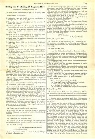 Handelingen van de Raad 1915-08-26