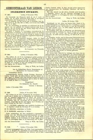 Handelingen van de Raad 1912-11-06