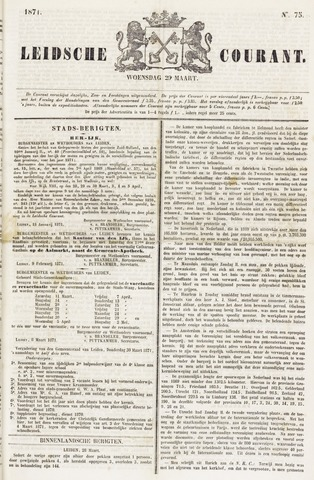 Leydse Courant 1871-03-29