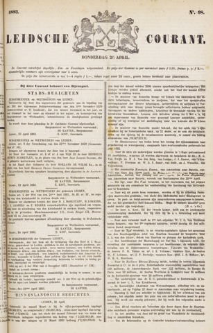 Leydse Courant 1883-04-26