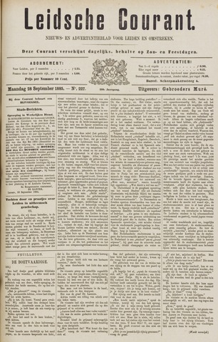 Leydse Courant 1885-09-28