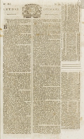 Leydse Courant 1817-08-18