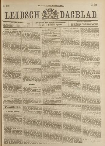 Leidsch Dagblad 1899-08-22