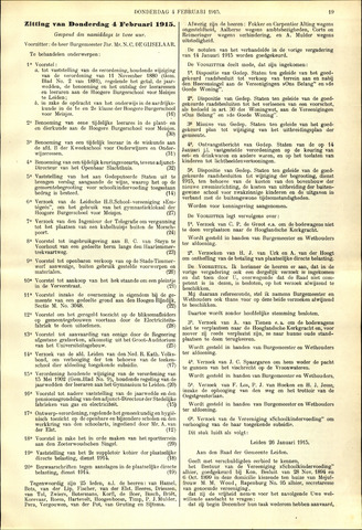 Handelingen van de Raad 1915-02-04