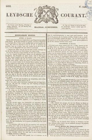 Leydse Courant 1852-12-13