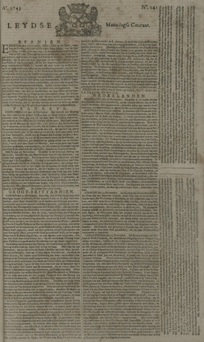 Leydse Courant 1743-11-25