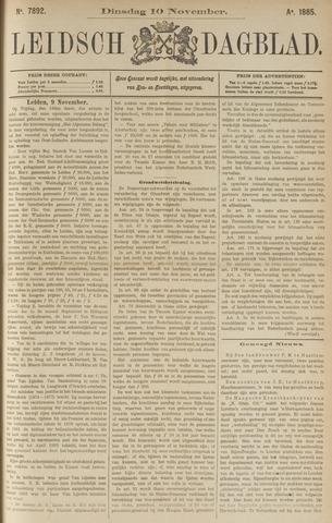 Leidsch Dagblad 1885-11-10
