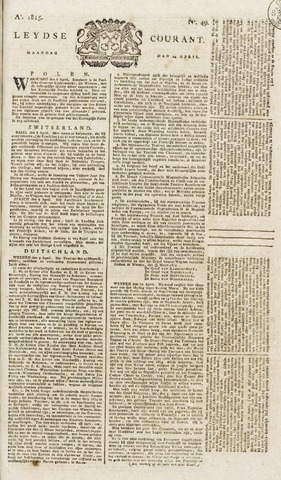 Leydse Courant 1815-04-24