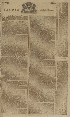 Leydse Courant 1754-01-25