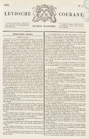 Leydse Courant 1853-01-10