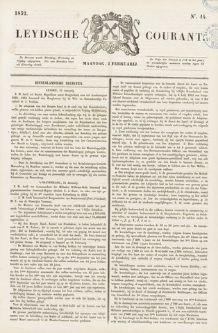 Leydse Courant 1852-02-02