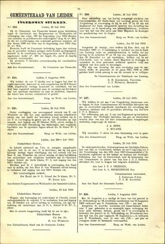 Handelingen van de Raad 1910-07-25