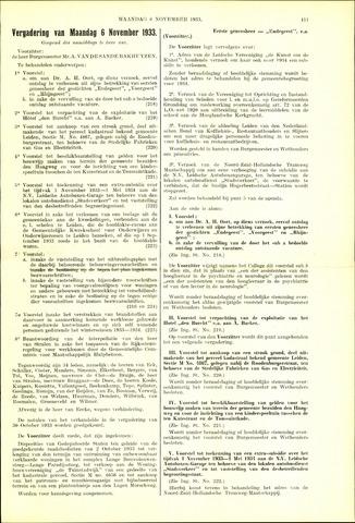 Handelingen van de Raad 1933-11-06