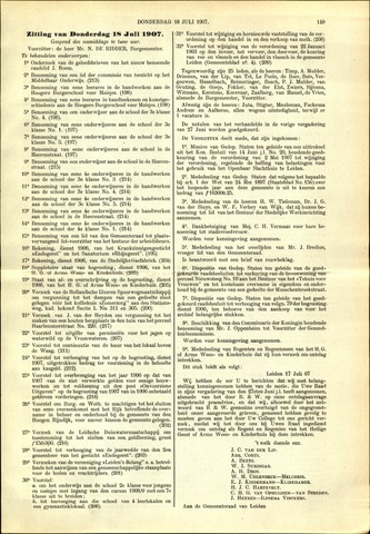 Handelingen van de Raad 1907-07-18