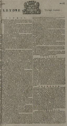 Leydse Courant 1727-08-29