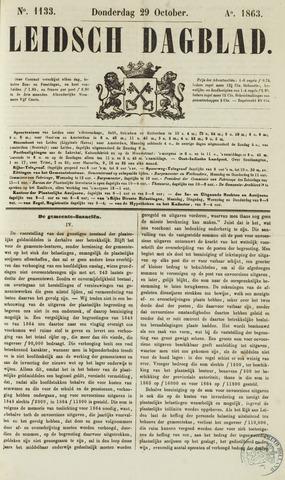 Leidsch Dagblad 1863-10-29
