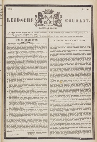 Leydse Courant 1884-06-28