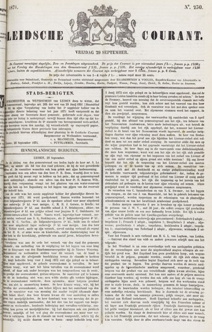 Leydse Courant 1871-09-29