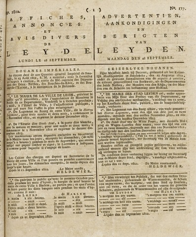 Leydse Courant 1812-09-28