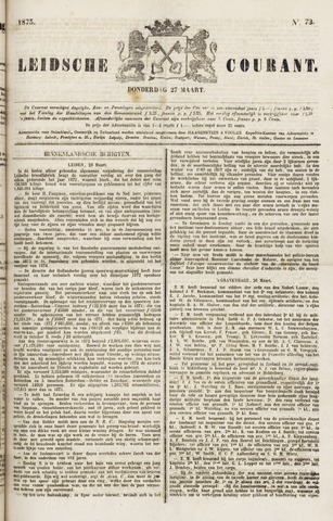 Leydse Courant 1873-03-27