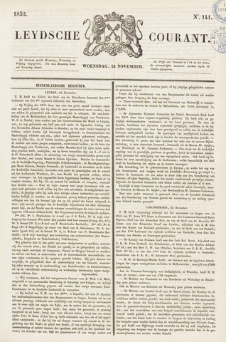 Leydse Courant 1852-11-24