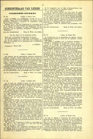 Handelingen van de Raad 1931-03-17