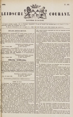 Leydse Courant 1884-01-26