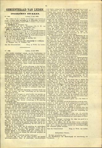 Handelingen van de Raad 1909-07-02
