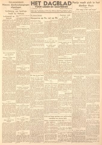 Dagblad voor Leiden en Omstreken 1944-02-18