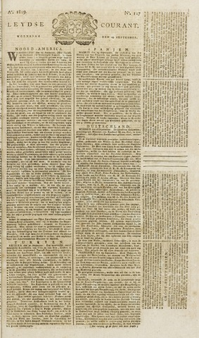 Leydse Courant 1819-09-29