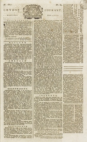 Leydse Courant 1817-07-09
