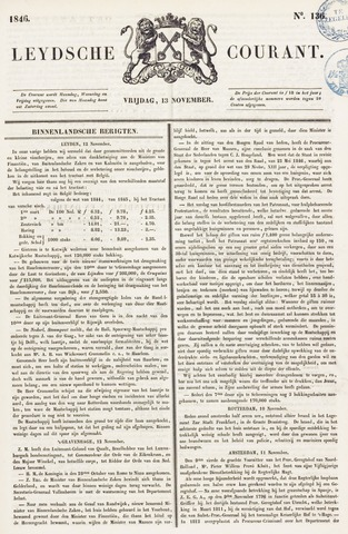 Leydse Courant 1846-11-13