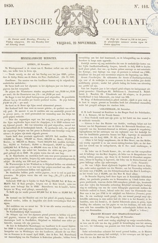 Leydse Courant 1850-11-22