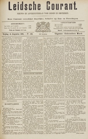 Leydse Courant 1885-08-14