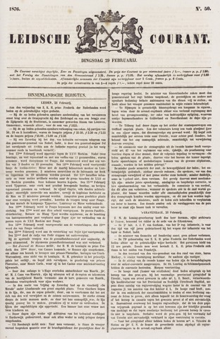 Leydse Courant 1876-02-29