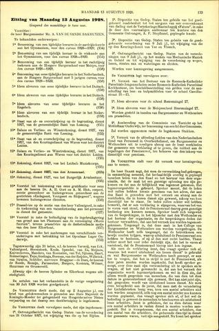 Handelingen van de Raad 1928-08-13